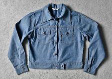"Vtg 70s LEVI'S Orange Tab Chambray Cotton Western Jacket Denim 41"" Bust 14/16"