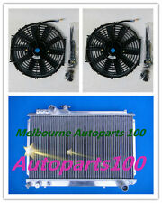 "For Supra Soarer Radiator + 10"" Fans MK3 7M-GTE 1986-1992 3000CC MZ20 3 Rows MT"