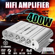 Aluminium  Auto Verstärker Endstufe Car HiFi Amplifier 400 Watt Bass Silber DE