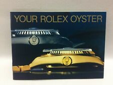 In English 1989 + Free Shipping Rolex Vintage Booklet Your Rolex Oyester