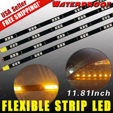 4x 5050 SMD 30CM 15LED High Power Car Motor Flexible Waterproof Strip Light 12V