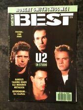 BEST N°225/1987/U2 EN STUDIO/BANGLES/METALLICA/TALKING HEADS/ELLI MEDEIROS