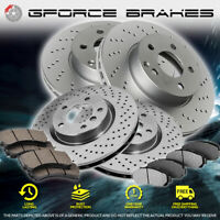 F+R Cross Drilled Rotors & Ceramic Pads for 2018-2019 Toyota Camry XSE/XLE