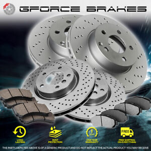 F+R Drilled Rotors & Pads for 2014-2019 Ford F-250 Super Duty 4 Wheel Drive