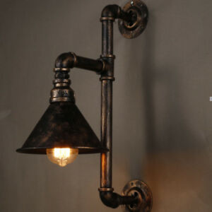 Industrial Wall Pipe Lamp Retro Light Steampunk Vintage Wall Sconce Light