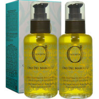 OlioSeta Treatment Oil 2 x 100ml Oro del Marocco ® Argan & Linseed Semi di Lino