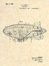 Official Goodyear Blimp US Patent Art Print - Vintage 1926 Aviation Zeppelin 333