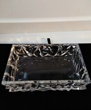 Tiffany & Co Crystal rock cut  Candy Jewerly Dish rectangle 6x2 inch rare CD1Stl