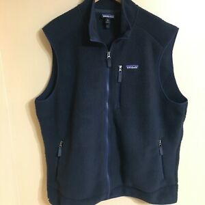 Patagonia retro pile fleece sherpa vest navy blue mens xxl 2xl