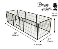 Heavy Duty 8 Piece Puppy Dog Play Pen Run Enclosure Welping Pen Playpen HD01S