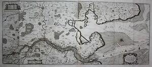 Wesermündung Weser Bremen Bremerhaven Karte engraving Kupferstich Merian 1650