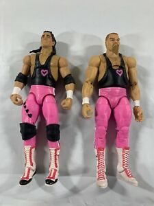 WWE Elite Figure Lot Mattel Hart Foundation Elite 43 Bret Hart Jim Neidhart X3