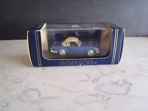 ELIGOR 1134 Avec Capote ~ 1968 Triumph TR5 Blue Roadster w/ Tan Soft Top ~ 1:43
