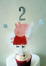 PEPPA PIG  CUPCAKE CAKE TOP/TOPPER / ANY AGE /1ST 2ND 3RD 4TH 5TH  OTHER COLOR
