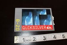 QUICKSILVER Logo Wave Surfboard Vintage Surfing Decal Clothing Tag STICKER