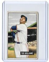 1951 Bowman Ted Williams Card W/ No Major Creases Appears In FR-VG Shape 1.5-3