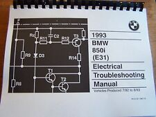 1993 BMW 850 I Owners Electrical troubleshooting Service Manual E 31 8 Series