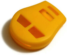 Yellow Key Fob 3 button Cover Jacket Silicon Pouch Bag Fits Nissan
