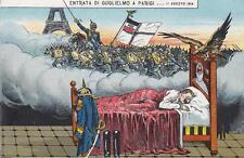 C3120) WW1 SATIRICA, IL SOGNO DI GUGLIELMO ENTRATA A PARIGI.