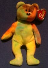 TY GARCIA the TY-DYED BEAR BEANIE BABY - NEAR PERFECT TAGS - G27
