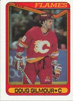 Doug Gilmour 1990-91 Topps #136 Calgary Flames Hockey Card
