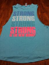 """Corner Shop"" ""Strong Strong Strong"" Blue Tank Top Size Medium"