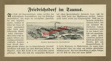 orig Reklame Zwiebackfabrik Bäckerei Stemler Handwerk Friedrichsdorf Taunus 1912