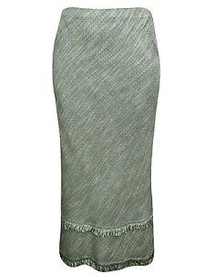 Ex Evans Maxi Skirt Plus Size 16 18 20 22 24 26 28 30 Pull on Tassel Long 470