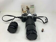 Canon AE-1 Program 35MM Camera W Canon Zoom Lens FD 70-210MM + Extra Lens