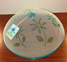 Wire Food Covers For Picnic Time Set Of Three Aqua Rim Daisy Design On Screen 14