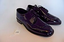 Men's Jim's Size 9 M Black Patent Leather Dress Shoes Tuxedo Wedding Pre-owned