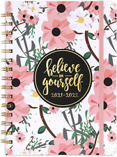 2021 July 2022 Daily Planner Weekly Month Academic Hardcover Pink Cute Organizer