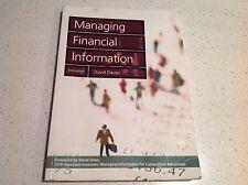 MANAGING FINANCIAL INFORMATIONS BOOK,  BEST SELLER $109.00BARGAIN  david allen