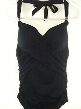 Victoria's Secret Black One Piece Bathing Suit 6 A Fits Petite Small Swimwear