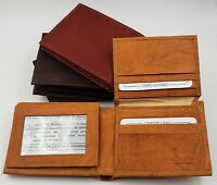 AG Wallets Mens Cowhide Leather Wallet with Double ID and Multiple Card Slots