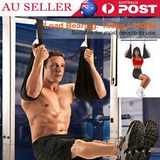 Weight Lifting Boxing AB Sling Straps 330ib Crunch Bar Fitness Abdominal Chin AU
