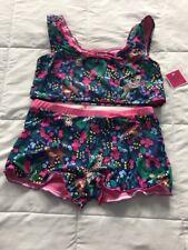 Juicy Couture Black Label Cheetah 2pc Swim  Suit Girl's Size  14 NWT