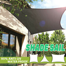 6 Size Sun Shade Sail Canopy Patio Garden Awning Shelter Waterproof + Free