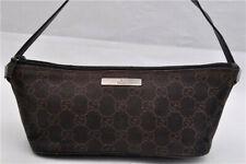Gucci Handbag Purse Vintage Baguette Canvas Guccissima Logo Mini Leather Small