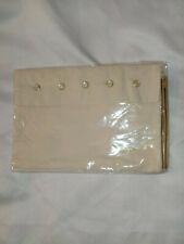 AGNES B. pochette sac bag en toile + sangle doré et boutons nacrés blanc crème