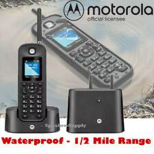 Motorola 0211 Rugged Waterproof 1/2 Mile Long Range Commercial Cordless Phone