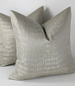 Luxury Scatter Cushion Cover Ashley Wilde Designer Fabric , Greige / Dove