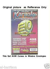 Chartbuster Karaoke Essentials - E10  CD+G 25 DISC 450 SONGS SET / $89 SALE