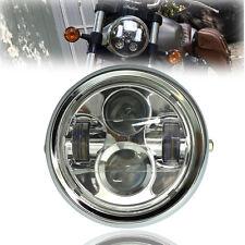 "Chrome Metal 6.5"" Projector Daymaker LED Headlight For Cafe Racer Bobber Custom"