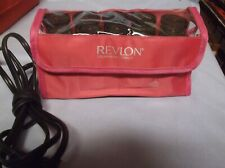 REVLON TOURMALINE/IONIC CERAMIC ELECTRIC CURLERS TRAVEL CASE W/ CLIPS PAGEANT
