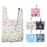 5 Hot Women Foldable Reusable Eco Storage Travel Shopping Tote Grocery Bag XL