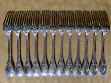 New listing Lapparra 'Baron Gerard' Antique French Sterling Silver Dinner Forks, 12 Pcs