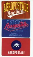 Aeropostale Gift Card LOT of 3 - A87 / New York / Est 1987 - No Value
