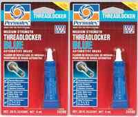 2 New! PERMATEX 24200 THREADLOCKER BLUE Medium Strength Removable .20 fl oz Tube