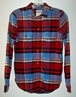 American Eagle Ahh-Mazingly Soft Classic Fit Flannel Plaid Shirt Women XS Pocket